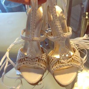 Women's Ribbon Lace up heels